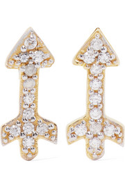 Small Arrow gold-plated topaz earrings