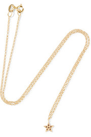Small Star gold-plated, crystal and cubic zirconia necklace