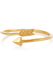 Arrow gold-plated ring