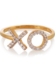 XO gold-plated topaz ring
