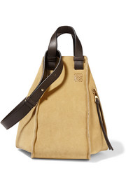 Loewe Hammock suede and leather shoulder bag