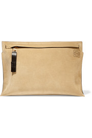 Medium suede clutch