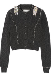 Embellished cotton cardigan