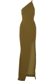 Petch one-shoulder crepe maxi dress
