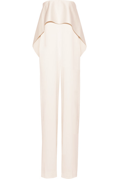 1041e24166a Solace London. Cadenza strapless ruffled bonded satin jumpsuit