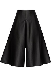 Caprice bonded satin culottes