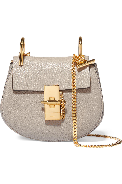 Chloé Drew nano textured-leather shoulder bag