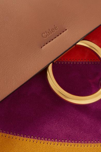 Chlo�� | Faye medium leather and suede shoulder bag | NET-A-PORTER.COM
