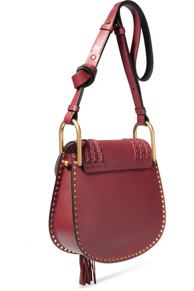chloe hudson small whipstitched suede shoulder bag