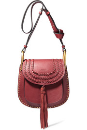 Hudson small whipstitched leather shoulder bag