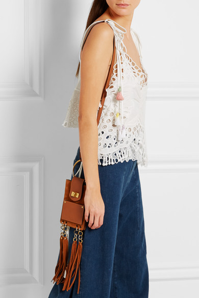 chloe pink handbag - Chlo�� | Jane mini fringed leather and suede shoulder bag | NET-A ...