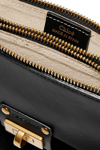 chloe replica - Chlo�� | Jane small leather and suede shoulder bag | NET-A-PORTER.COM