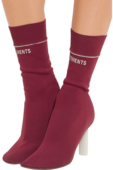 Vetements Sock Jersey Ankle Boots Net A Porter Com