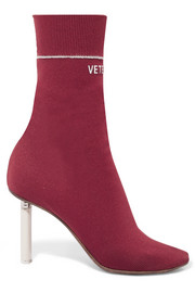 Sock jersey ankle boots
