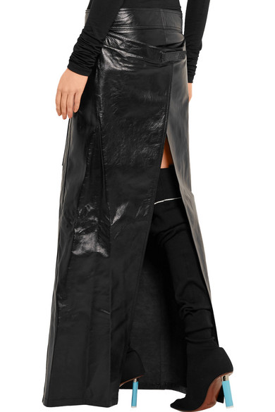 Vetements | Glossed-leather maxi skirt | NET-A-PORTER.COM