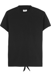 Open-back stretch-cotton jersey T-shirt