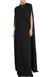 Valentino Convertible cape-back silk-crepe gown