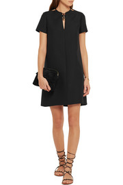 Valentino Embellished wool and silk-blend crepe mini dress