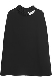 Cape-back stretch-silk cady mini dress