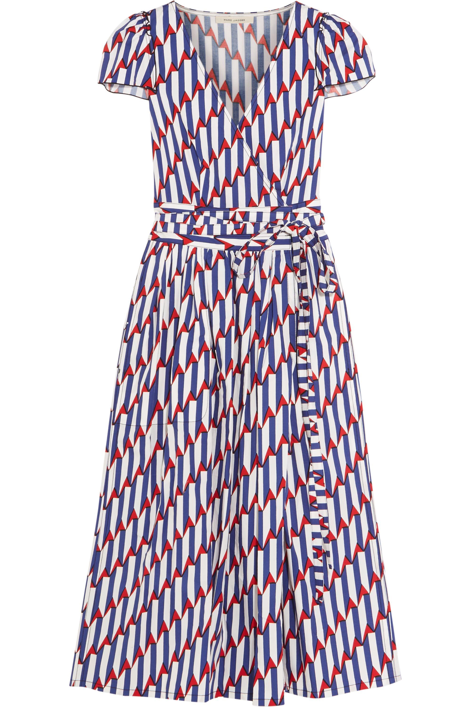 Runway Marc Jacobs Printed stretch-cotton poplin wrap dress