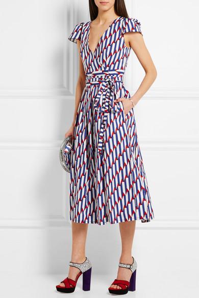 f57659d3b47 Marc Jacobs | Printed stretch-cotton poplin wrap dress | NET-A ...