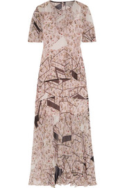 Talulah printed silk-chiffon dress
