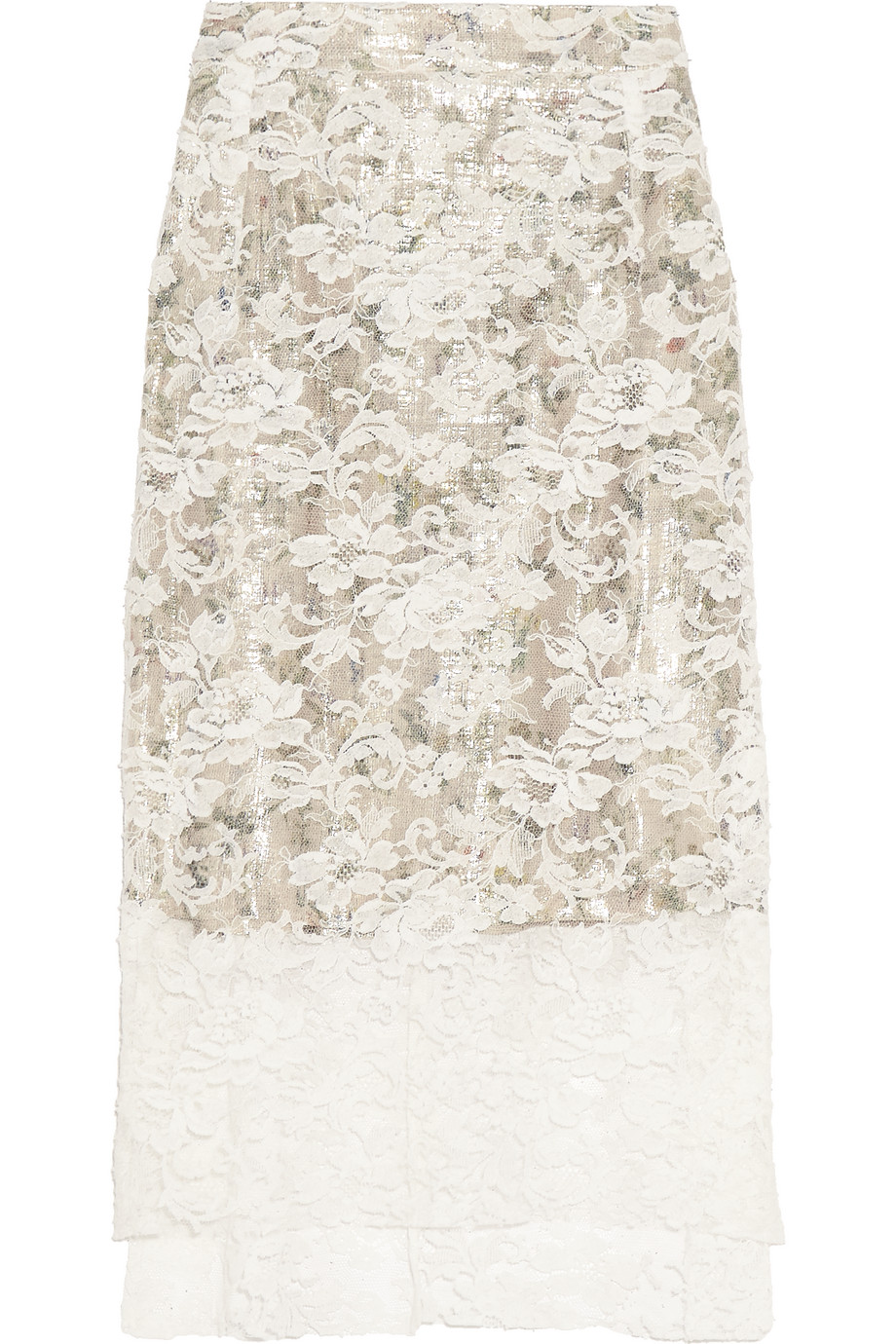 Lace Skirt, Preen by Thornton Bregazzi, Ivory, Women's