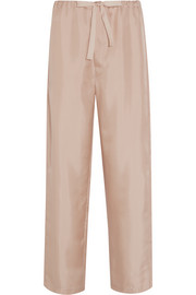 Ally polka-dot silk-satin pajama pants