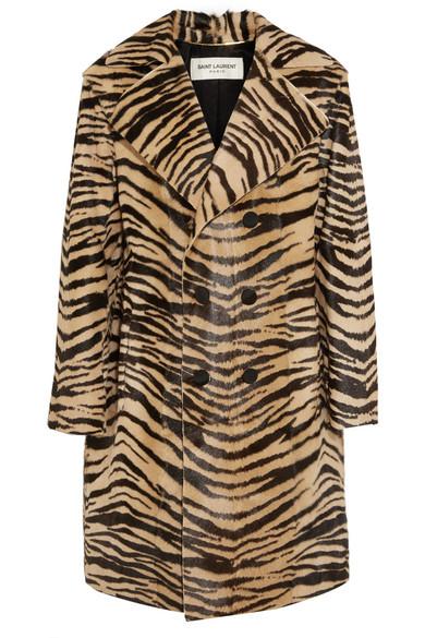 Saint Laurent - Tiger-print Goat Hair Coat - Leopard print