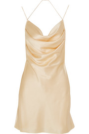 Silk-satin mini dress
