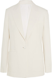 Cotton-crepe blazer
