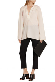 Helmut Lang Oversized stretch-silk crepe top