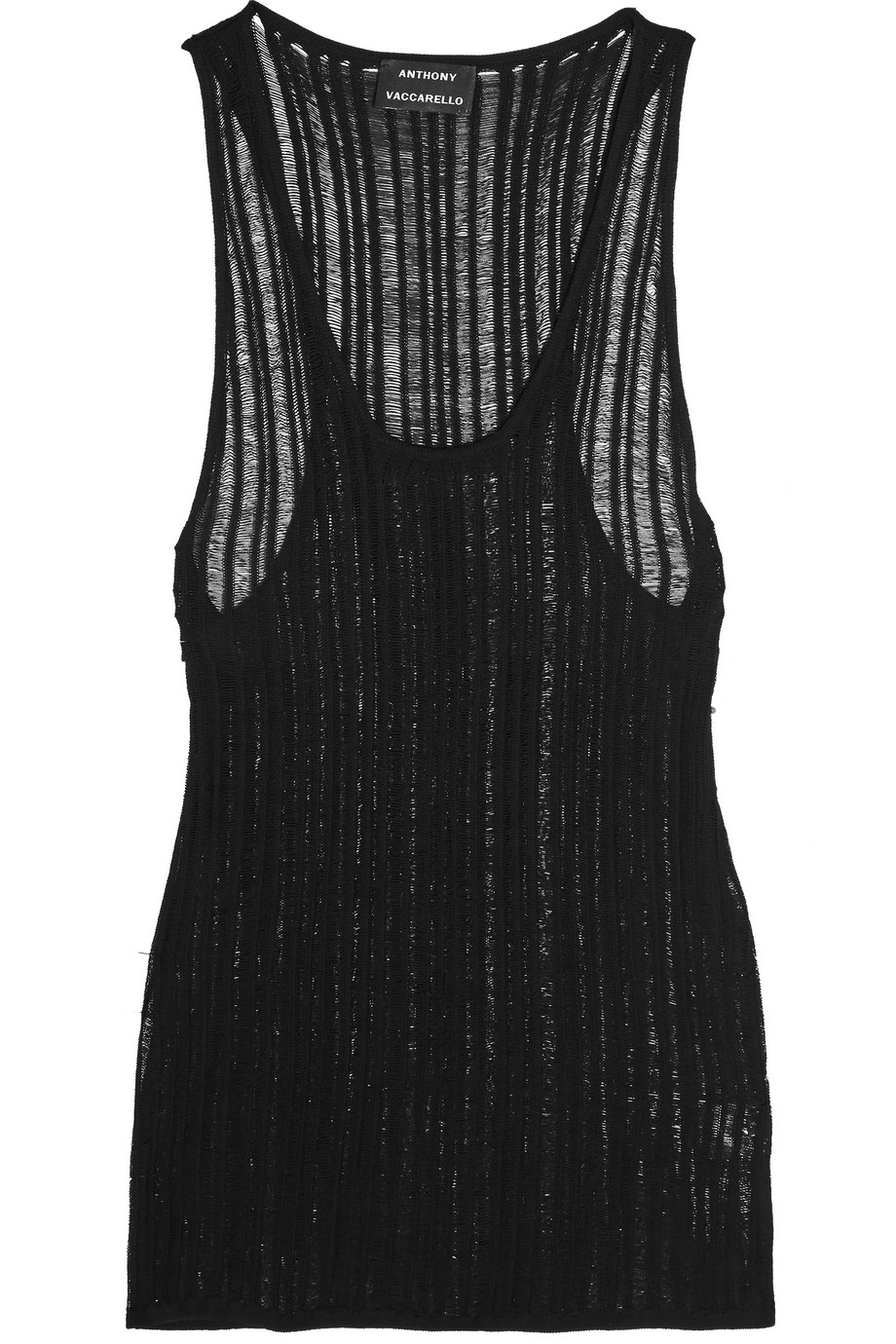 Open-Knit Tank, Anthony Vaccarello, Black, Women's, Size: S