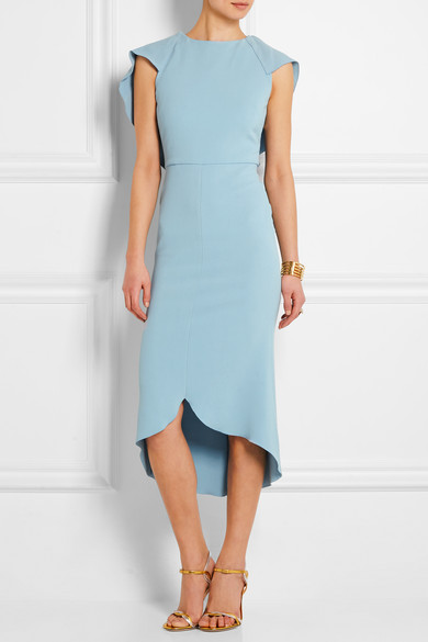 63eccdaaab Cape-back stretch-crepe dress