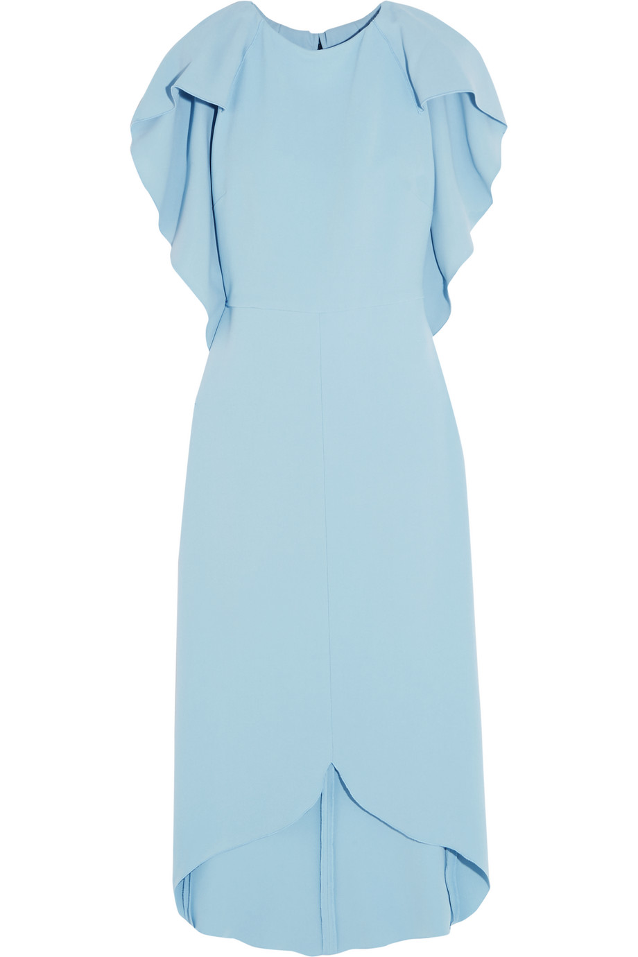 Antonio Berardi Cape-Back Stretch-Crepe Dress, Light Blue, Women's, Size: 42