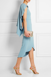 Antonio Berardi Cape-back stretch-crepe dress