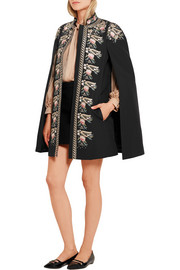 Darcy embroidered cotton cape