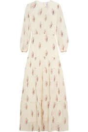 Gigi floral-print silk and cotton-blend gauze maxi dress
