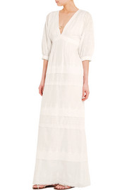 Lee embroidered cotton maxi dress