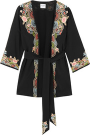 Lucy embroidered crepe jacket