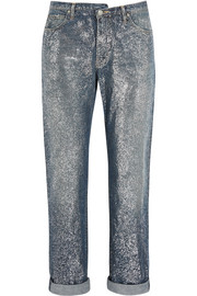 Karly glittered mid-rise boyfriend jeans