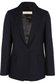 Pinstriped wool and mohair-blend blazer