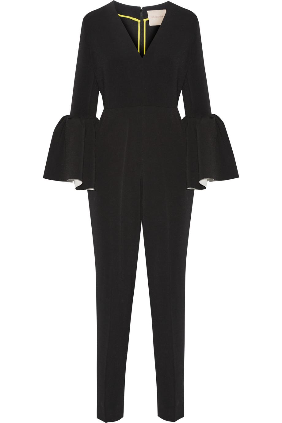 Roksanda Margot Crepe Jumpsuit, Black, Women's, Size: 8