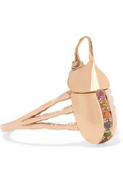Geb 18-karat rose gold multi-stone ring
