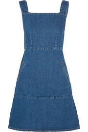 Square denim mini dress