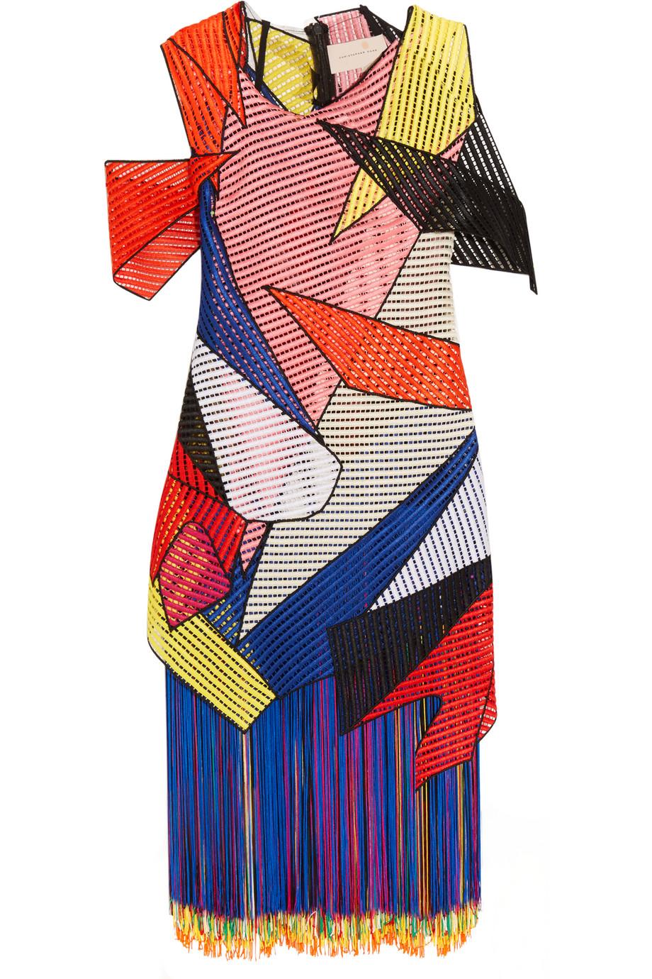 Fringed Crocheted Dress, Christopher Kane, Size: 8