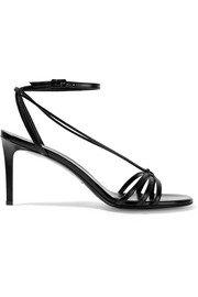 Kate glossed-leather sandals
