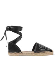 Saint Laurent Studded leather espadrilles