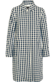 J.Crew Gingham cotton trench coat