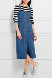 J.Crew Stretch-denim midi dress